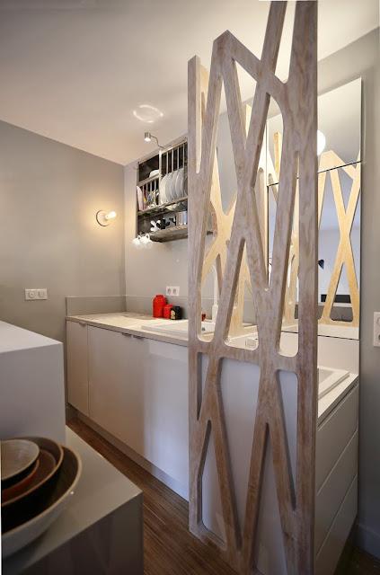 Kitnet ou quitinete de 12m² decorada. Blog Achados de Decoração