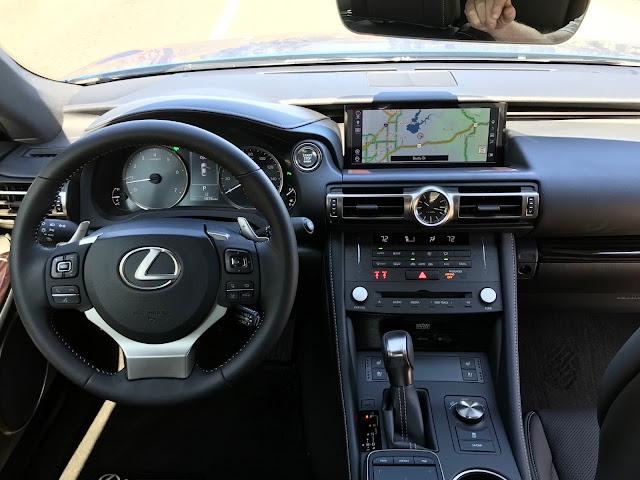 Interior view of 2019 Lexus RC 350 interior.