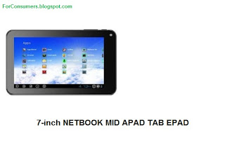 NETBOOK MID APAD TAB EPAD 7-inch tablet