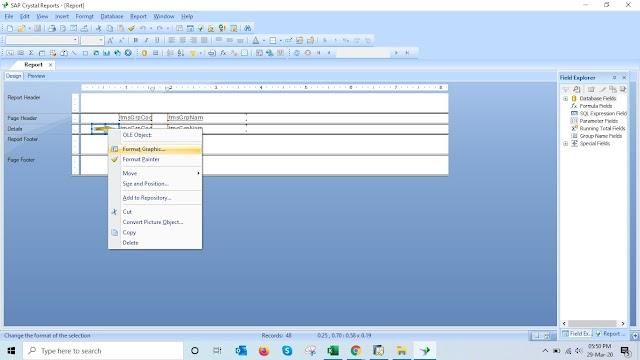 How to create formulas based on null values in SAP Crystal Reports