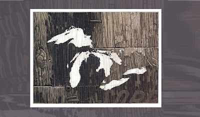 Great Lakes Screen Print by Justin Santora