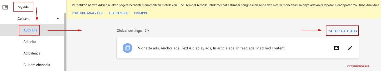 Cara Memasang Iklan Otomatis AdSense di Blogger 1