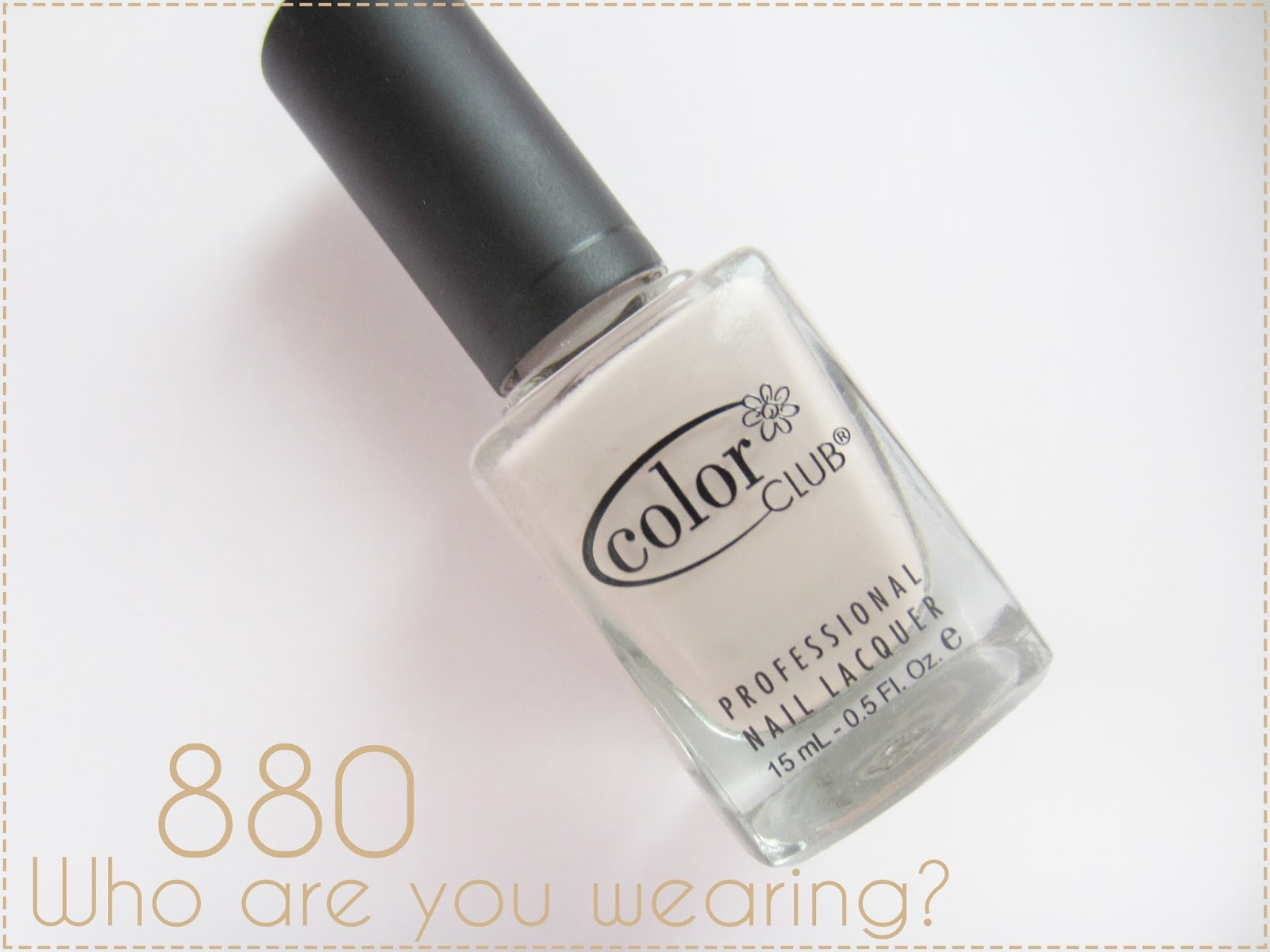 WHO ARE YOU WEARING? - 880 COLOR CLUB