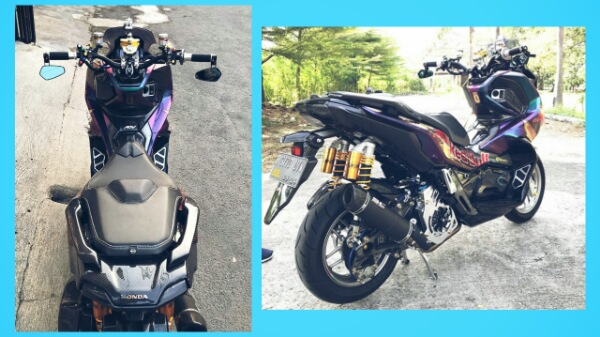 Modifikasi Motor Honda Adv 150 RedBull Bikin Mata Melotot