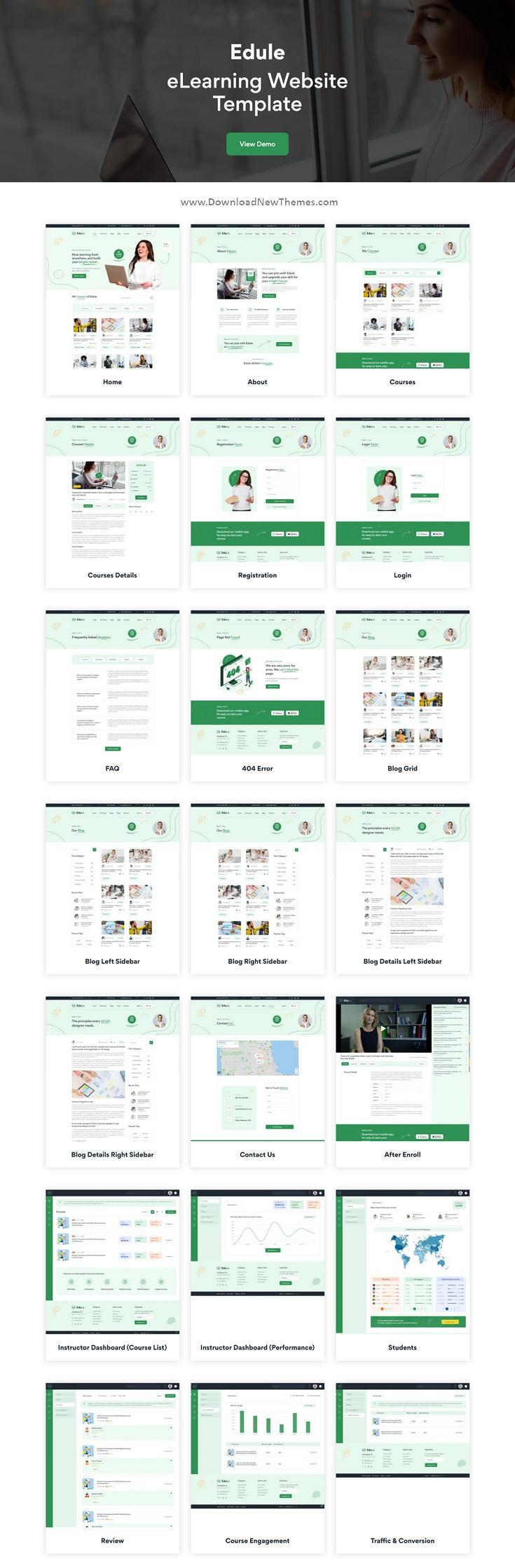 Edule - e-Learning Website Template HTML Version