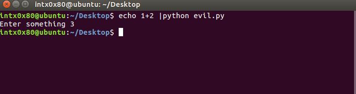 python input vulnerability