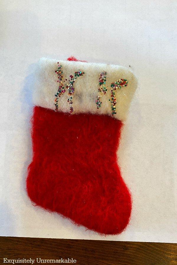 Tiny Vintage Stocking Ornament