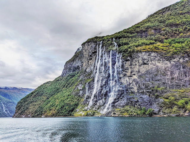 Seven Sisters Waterfall on a Geirangerfjord Cruise