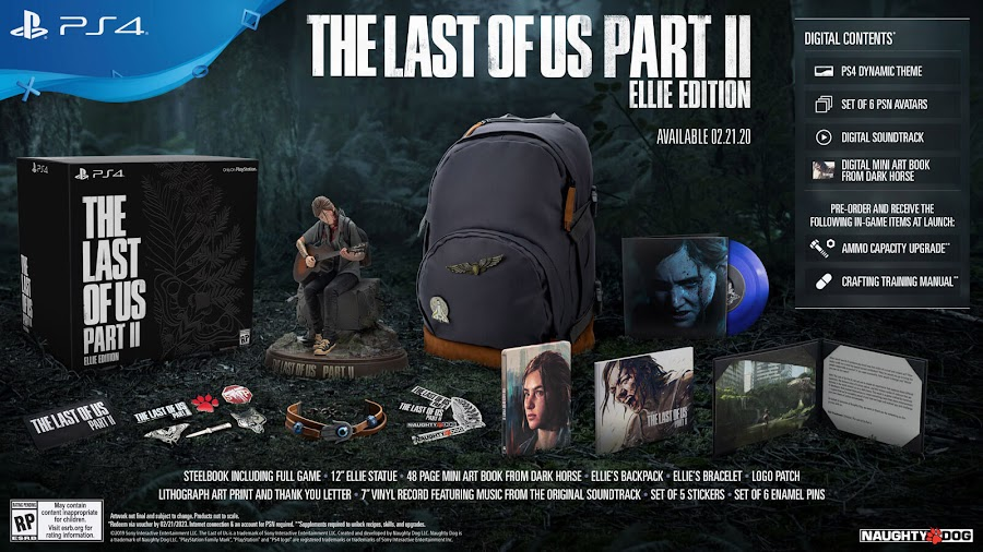 last of us part 2 ellie edition ps4 naughty dog sony interactive entertainment