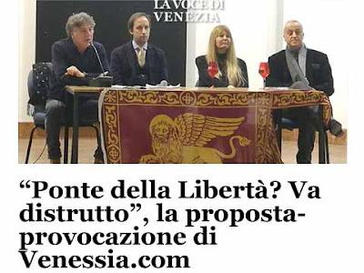 L'incontro di Venezia.com e la provocazione di demolire il Ponte della Libertà