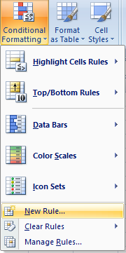 conditional formatting new rule
