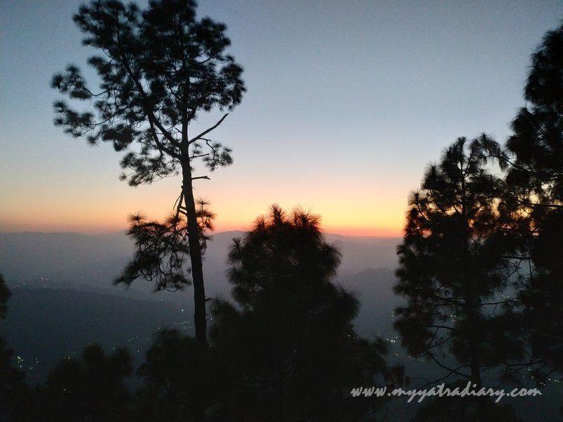 Sunset as seen from Kasar Devi Temple, Uttarakhand