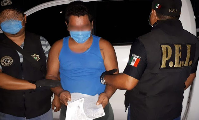 Santiago A.F.L, el día de la detención