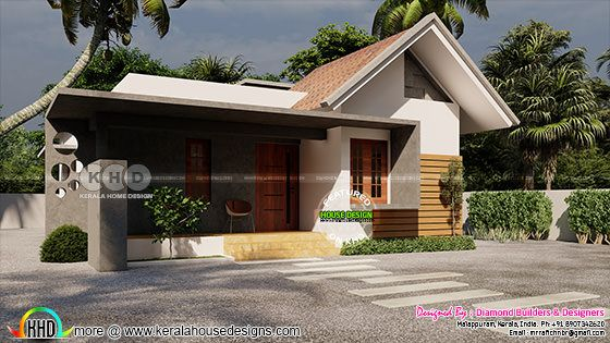 Mixed roof single floor home design