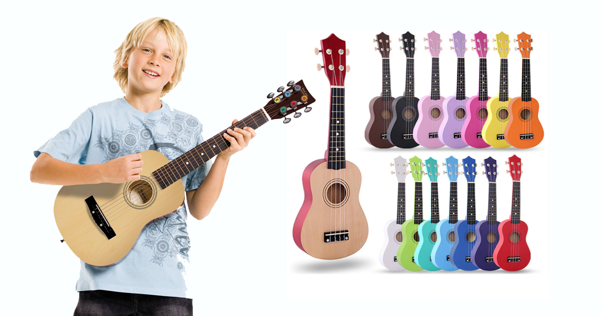 Gợi ý đàn guitar acoustic, guitar điện cho trẻ