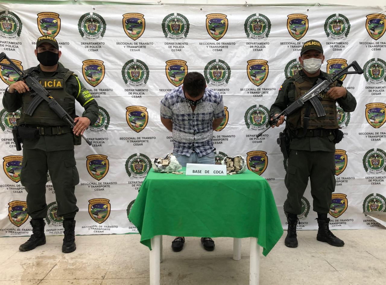 hoyennoticia.com, ´Se cayó' con mas de un kilo de coca que traía para Valledupar