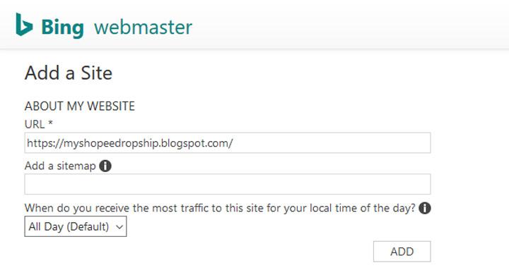 Cara Submit URL dan Sitemap Menerusi Bing Webmaster Tools