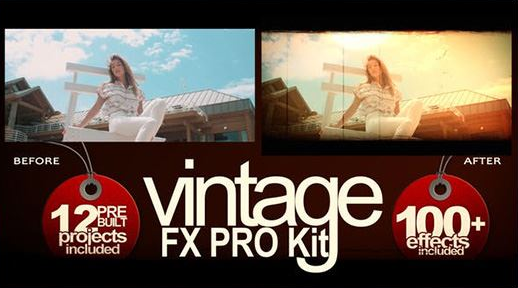 Projects – VideoHive – Vintage FX PRO Kit – 27410543 [AEP]