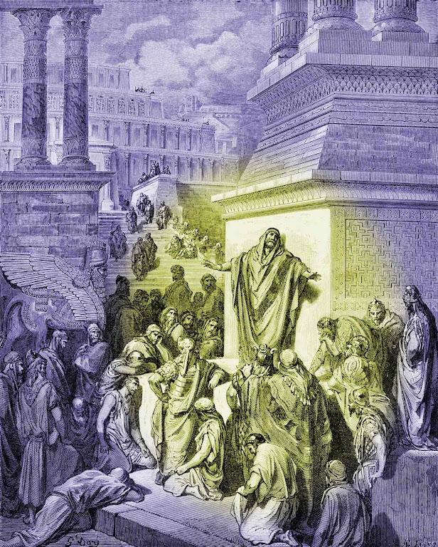 Jonas profetiza e Nínive faz penitência, Gustave Doré (1832 — 1883).