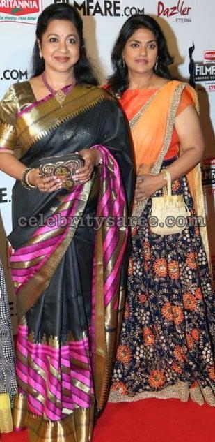 Radhika and Nirosha Half Sarees