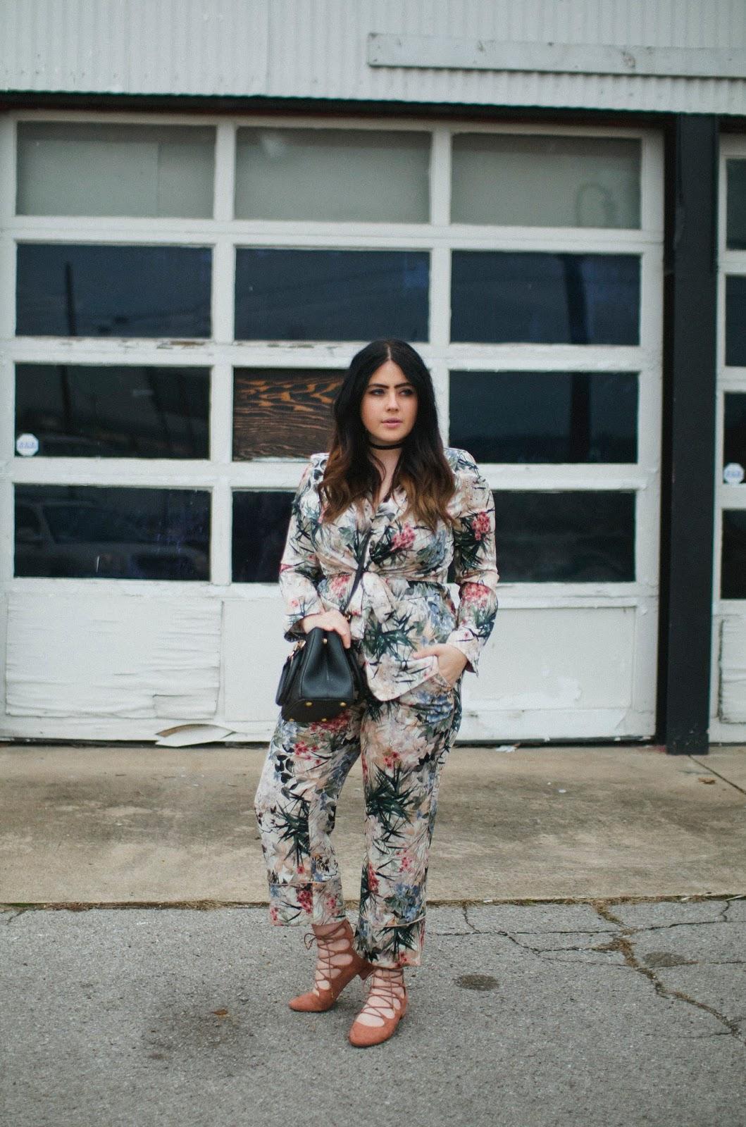 Zara, floral, blazer, trousers, pink, pantsuit
