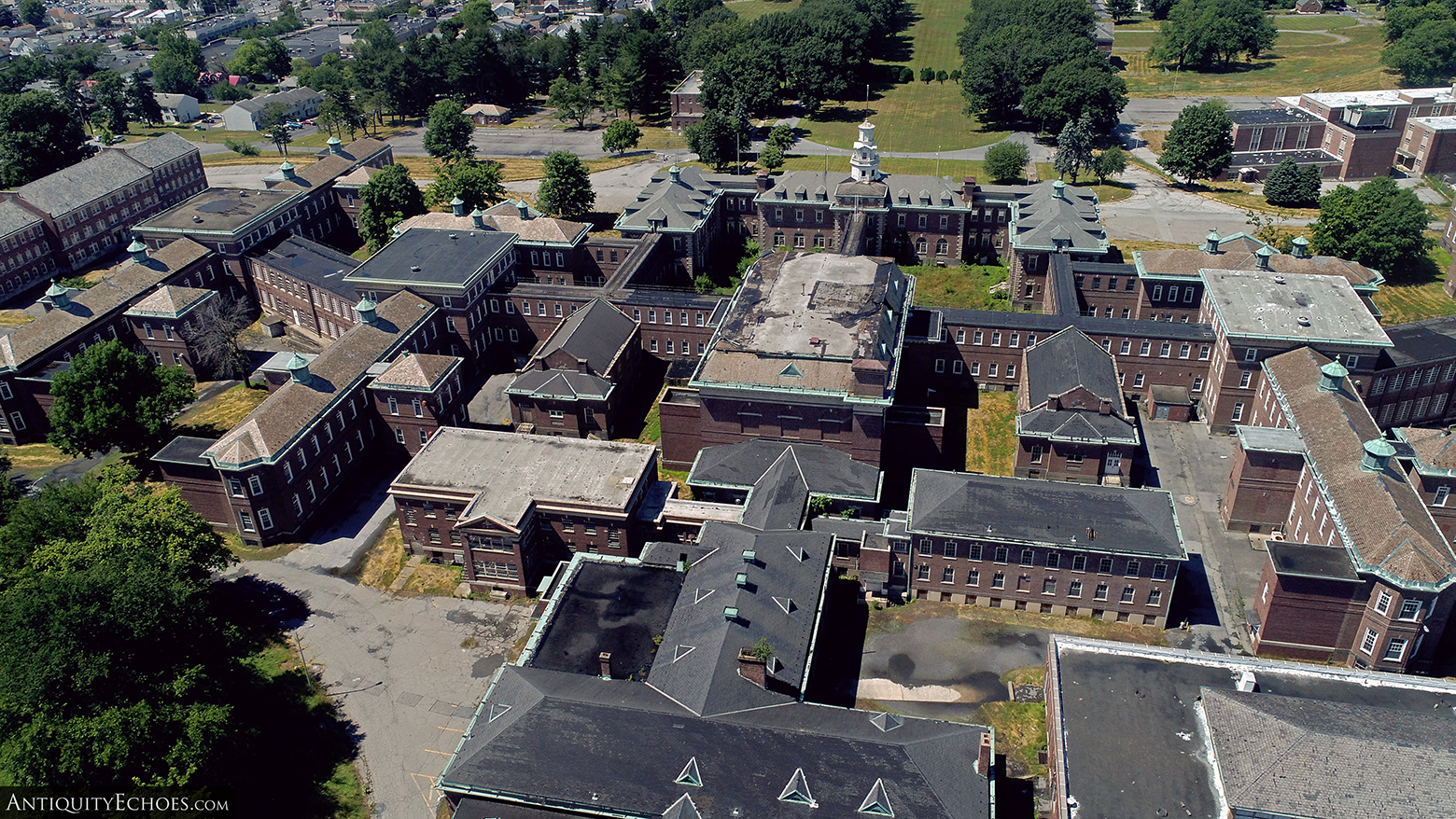 Allentown State Hospital - Drone from Rear of Campus