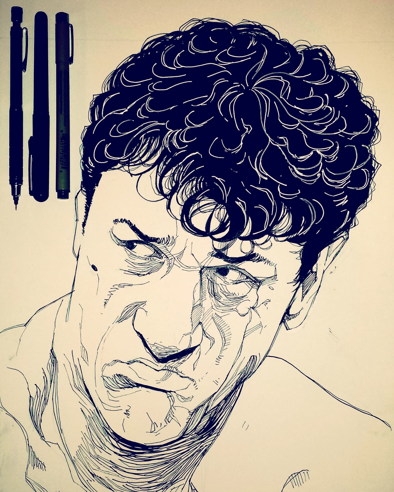 Inktober drawing Robert De Niro