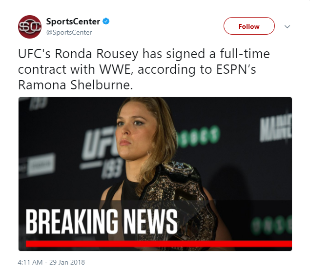 Ronda Rousey signs WWE     StrengthFighter.com
