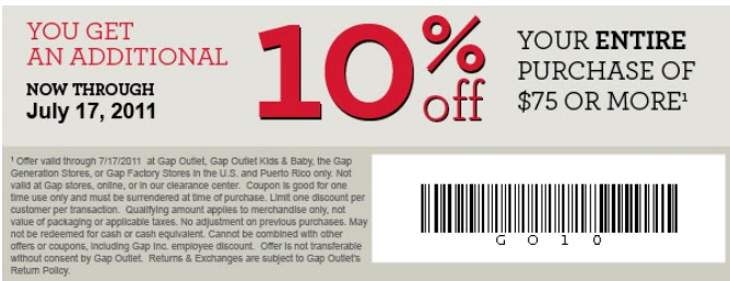 picture about Gap Factory Printable Coupon referred to as Hole discount codes outlet printable : Specials each 20 minutes