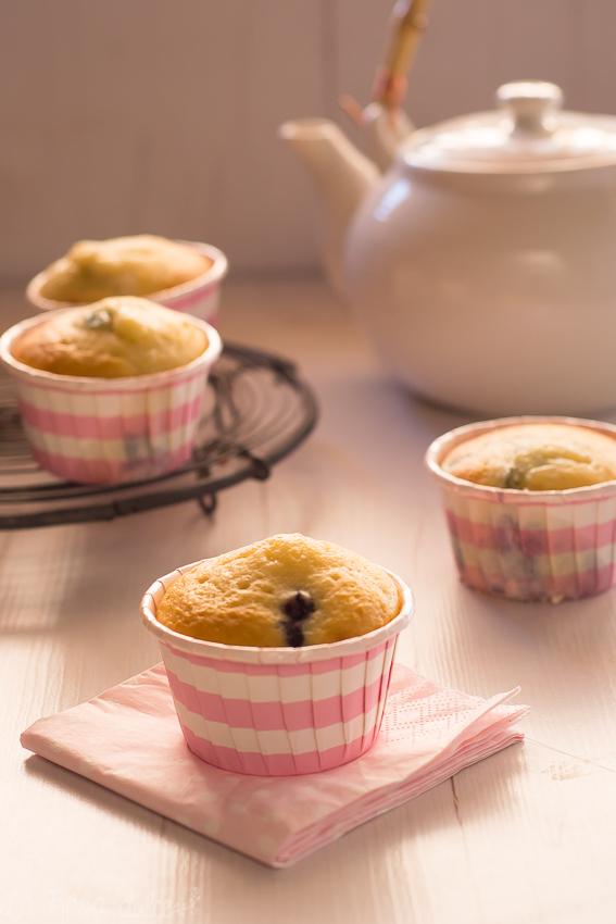 Muffins de mascarpone y arándanos sin lactosa | la Rosa dulce