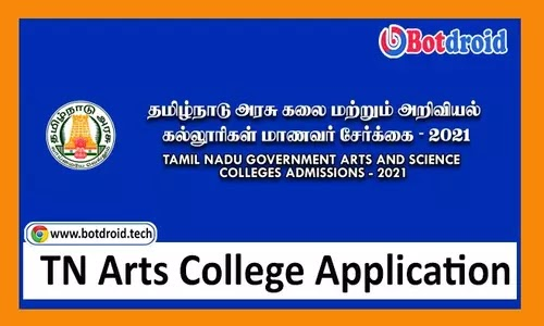 TNGASA Online Application Form 2021, Government Arts College Online Application 2021