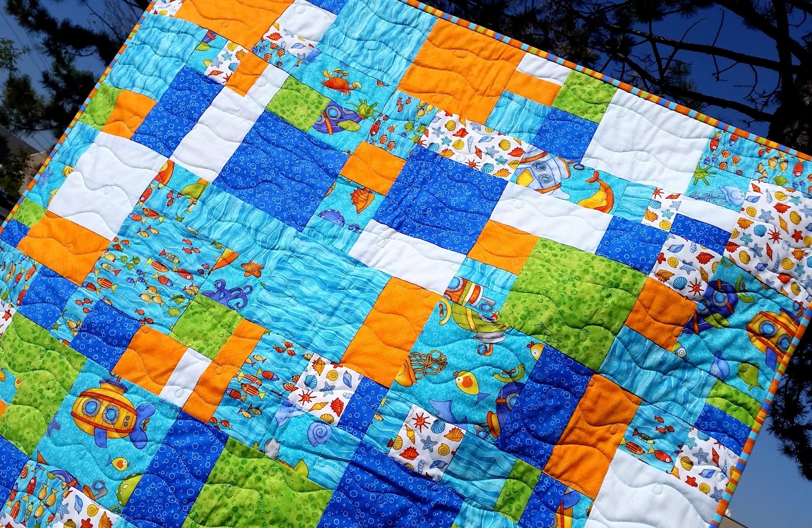 Sew Sisters Quilt Shop: Crazy Eights - Under the Sea - Baby Quilt Kit : crazy eights quilt pattern - Adamdwight.com