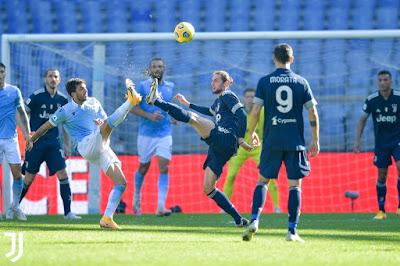 ملخص واهداف مباراة يوفنتوس ولاتسيو (1-1) في الدوري الايطالي