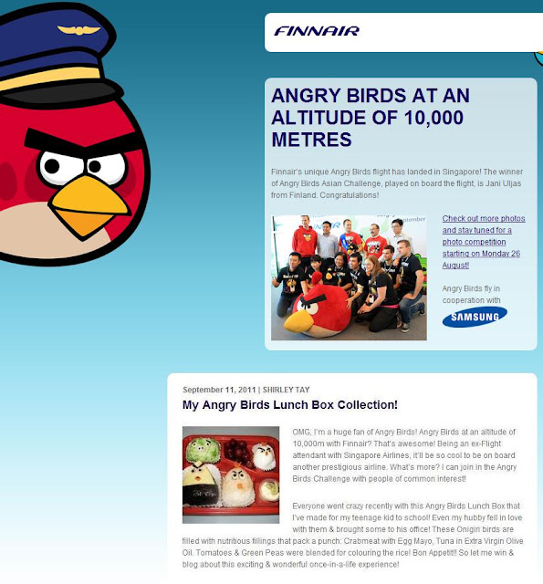 finnair angry birds asian challenge, bento box