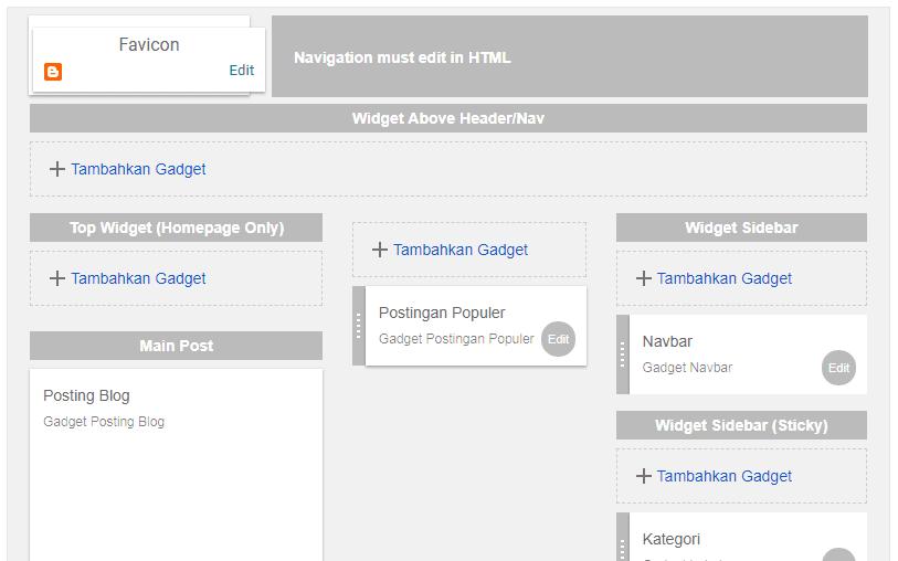 Cara memasang widget pada blogspot - #IRVANGEN