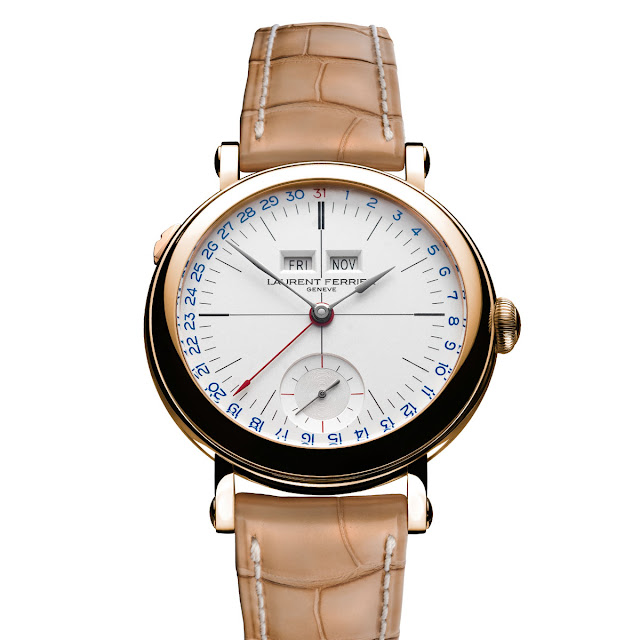 Laurent Ferrier - Galet Annual Calendar School Piece Opaline White