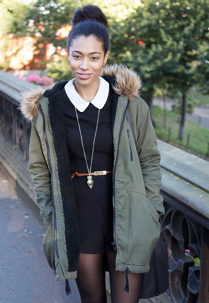 What I Wore | Primark Black Playsuit