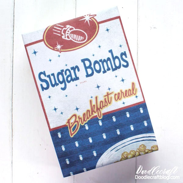 Sugar Bombs! Print off this FREE label and wrap it around a box. Boom! Same idea for the Mentats, FREE label here.