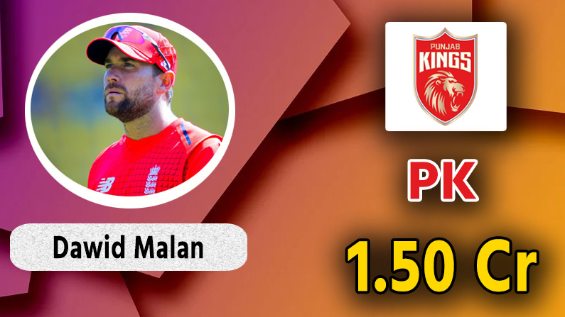 dawid malan to punjab kings