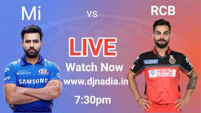 Watch live vivo IPL 2021 Mumbai Indians vs Royal Challengers Bangalore Free, today ipl 2021 match rcb vs mi live match watch now