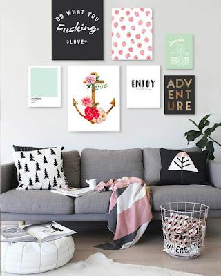 decoracion de cuarto con cuadros tumblr
