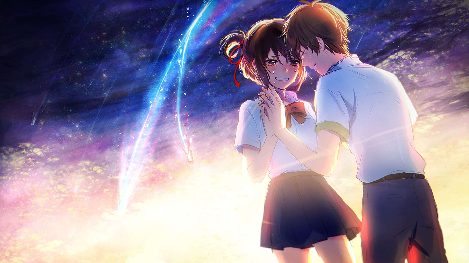 Mitsuha anime wallpaper romantis