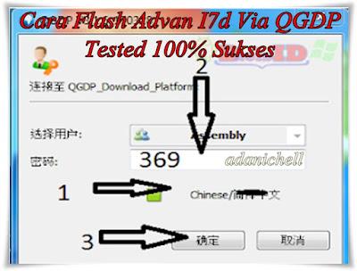 Cara Flash Advan I7d Via QGDP Tested 100% Sukses