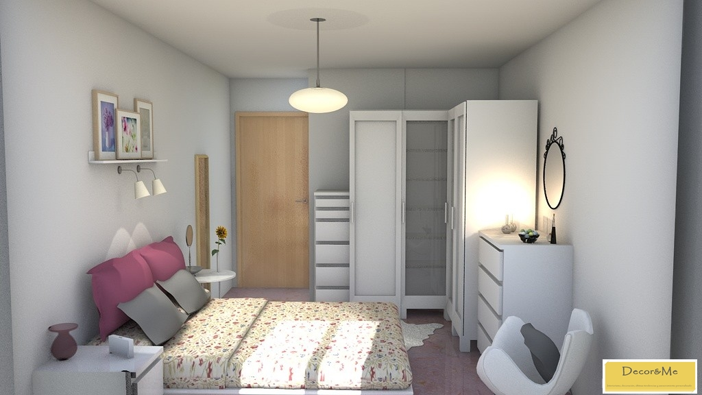 Decor me proyecto de dormitorio estilo n rdico - Lamparas de pared para dormitorios ...