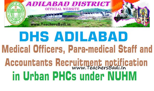 Adilabad Medical Officer,ANM,Staff Nurse,Pharmacist,Lab Technician,Accountant Posts 2016