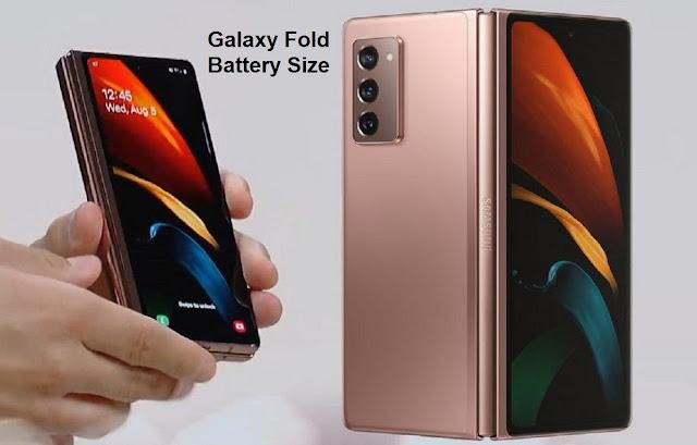 Samsung Galaxy Z Fold Battery Size