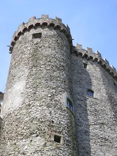 Malaspina Castle in Fosdinovo Tuscany.
