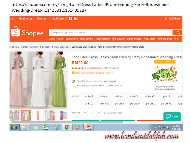 SHOPEE.COM.MY, DRESS CANTIK, DRESS MURAH,