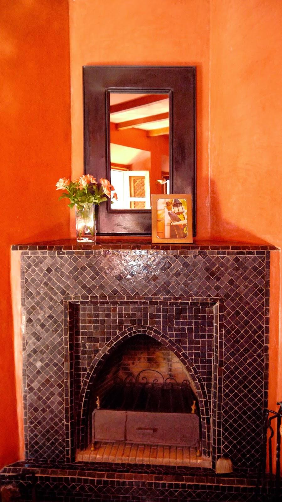 Fireplace Riad Noga Marrakesh