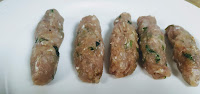 Bullet shape Seekh Kebab for chicken Gilafi Seekh Kebab recipe on tawa or pan